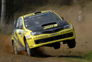 Masterton's Richard and Sara Mason charged past adversity to win the Possum Bourne Memorial Rally. Picture / Euan Cameron