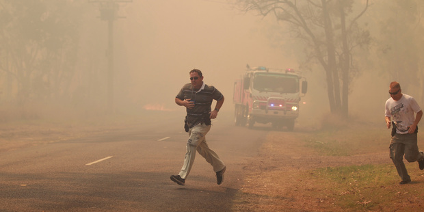 The ferocity and scale of this week's fires, less than two weeks into spring, have alarmed authorities. Photo / Daily Telegraph