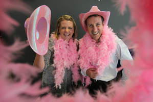 Lea Lehndorf and Shane Kennedy as the new faces of the annual Pink Walk. Photo / File