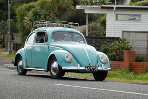 Philip Coyle owns a 1956 VW Beetle that is completely original. Pictures / Jacqui Madelin