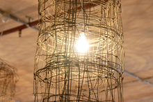 Lightshade made from fence netting at Greenhouse cafe in Perth. Photo / Ben Crawford
