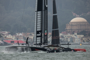 Oracle Team USA training.  Photo / Gilles Martin-Raget
