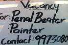 Sounds painful: Spotted by Simon in a Nadi, Fiji, hardware shop window last week.