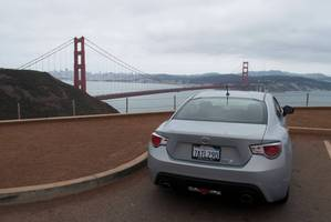 Journey's end, looking out at the Golden Gate Bridge from the Toyota. Photos / Richard Edwards