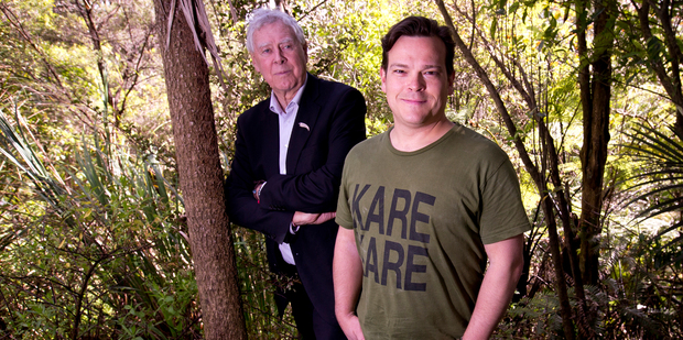 Bob Harvey (left) and Jonathan Knox say the Waitakeres are being hijacked. Photo / Dean Purcell