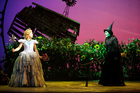 Wicked: Suzie Mathers (Glinda the good) and Jemma Rix (Elphaba the green witch).