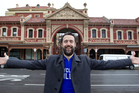 Jon Bridges checks out the old Adelaide Fruit and Produce Exchange in South Australia that has been converted into retail shops and apartments. Photo / Richard Robinson
