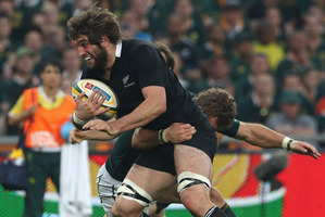 Whitelock will call on all of his 44 tests worth of experience when taking on Eben Etzebeth and Flip van der Merwe. Photo / Getty Images