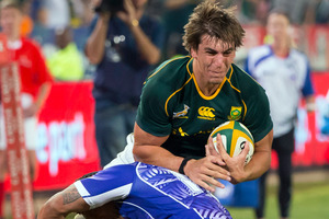 Eben Etzebeth is carrying on a long-standing family tradition as an enforcer in South African rugby. Photo / Gallo Images