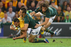 The physical confrontation is what blows away most of the Springbok opposition. Photo / Getty Images