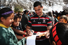 Sherwin Stowers and fans at the Counties Manukau victory parade. Photo / Getty Images