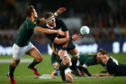 Despite earning himself a yellow card, Kieran Read was an inspirational leader for the All Blacks. Photo / Getty Images