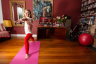 Rachel Grunwell enjoyed the convenience of going online to do a Yogasync workout at home. Photo / Michael Craig