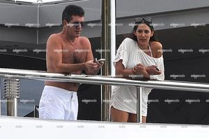 Simon Cowell and Lauren Silverman. Photo / SNAPPER MEDIA