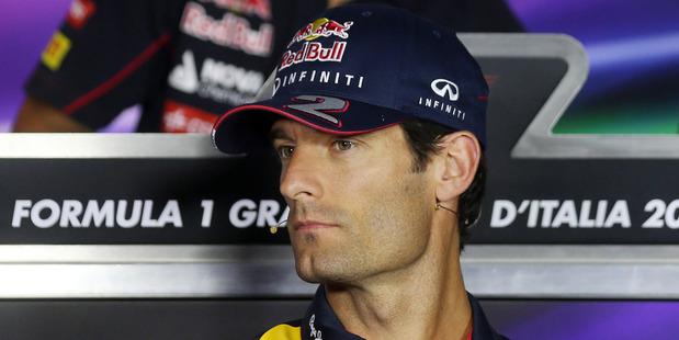 Red Bull driver Mark Webber. Photo / AP