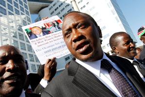 2011 file photo of Kenya's then Deputy Prime Minister and Finance Minister Uhuru Kenyatta leaves the International Criminal Court in The Hague.