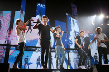 British boy-band One Direction were rumoured to be performing at the sexy fashion show.Photo / AP