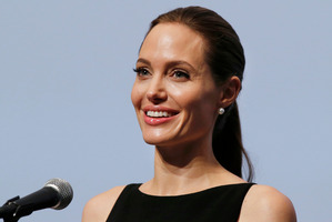 Angelina Jolie showed off her 18th tattoo during a walk through Sydney. File photo / AP