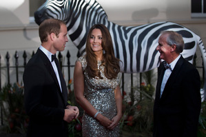 The Duke and Duchess at the inaugural Tusk awards that celebrate the work of wildlife conservationists. Photo / AP