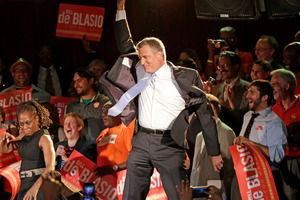 Bill De Blasio's run came late but he is well ahead of other candidates. Photo / AP