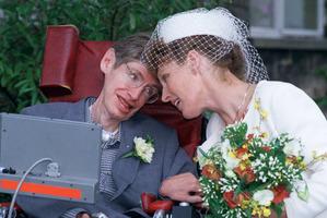 Stephen Hawking with second wife Elaine Mason. Photo / AP