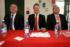 The Three Amigos (from left) Shane Jones, David Cunliffe and Grant Robertson.