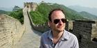 Julian Hanton on the Great Wall of China.