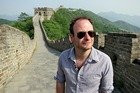 Julian Hanton on the Great Wall of China.
