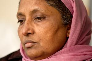 Karamjit Kaur, the grieving mother of murdered security guard Charanpreet Dhaliwal Singh. Photo / Steven McNicholl