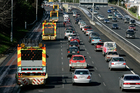 Auckland drivers (above) seem in a hurry, compared with the more sedate pace of motoring in Christchurch. Picture / APN