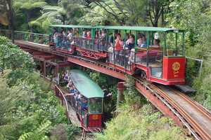 Bush train rides at Coromandel's Driving Creek Railway. Photo / Barry Brickell