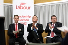 Labour party leadership candidates David Cunliffe, Shane Jones and Grant Robertson. Photo / Paul Taylor