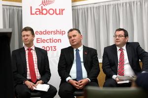 David Cunliffe, Shane Jones and Grant Robertson. Photo / Paul Taylor