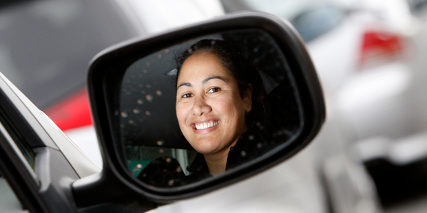 Whangarei AA driving instructor Kiri Tavaga has a dual controls car to take eligible learner drivers out for a free lesson to help them pass the restricted licence test. Photo / Michael Cunningham
