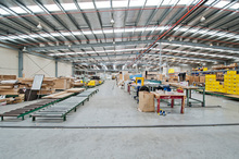 The 14,000sq m facility in Ron Driver Place includes two warehouses, one of which is pictured above.