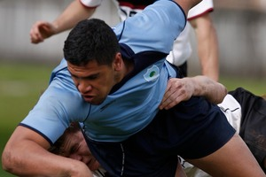 Harbour Northland flanker Mana Taylor scores an outstanding try  Photo / Ron Burgin