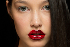 Zambesi's stand out red lip at NZ Fashion Week by M.A.C. , created with lip pencil and Rubby Woo lipstick