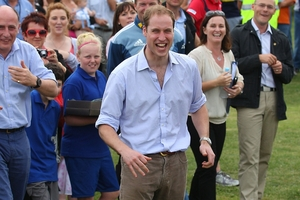Prince William is to host the soccer game at the palace. Photo / Getty Images