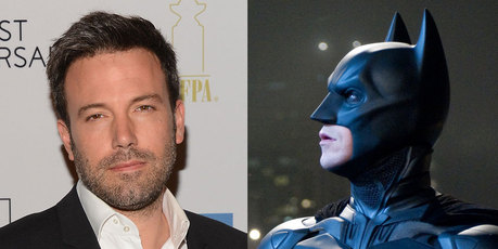 Ben Affleck, left, and Christian Bale as Batman. Photos / AP
