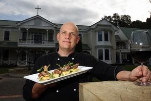 SIGNATURE DISH: The Lamb Noisette has been garnering plenty of compliments for Mission Estate Restaurant head chef Daniel Lorch. PHOTO/PAUL TAYLOR HBT133028-19