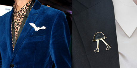 The classic brooch was seen both on and off the runway.
