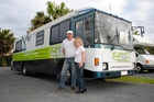 Wayne and Sharon George are on the road promoting their new website. Photo / Supplied