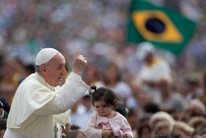 Pope Francis says there is hope for those who behave morally. Photo / AP