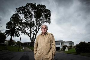 Henk van der Vliet is squabbling with his neighbour over a gum tree. Photo / Michael Craig