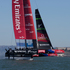 Emirates Team New Zealand in action against Oracle, and went on to win Race 11 of the America's Cup. Photo / Brett Phibbs