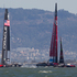 Emirates Team New Zealand in action against Oracle in Race 11 of the America's Cup. Photo / Brett Phibbs