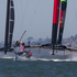 Emirates Team New Zealand in action against Oracle, to win Race 11 of the America's Cup. Photo / Brett Phibbs