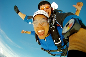 Skydiving is among the 300 activities people can book on GoBook.