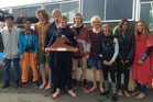 Mount College's winning surf team, who edged out New Plymouth.