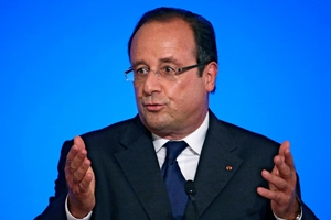 "Francois Hollande said the industrial policy was neither German nor Anglo-Saxon - ""it is French and pragmatic"". Photo / AP"